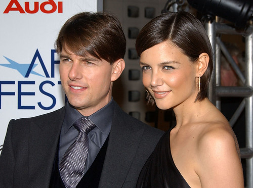 Actor Tom Cruise and his wife actress Katie Holmes