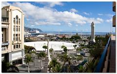 Remodelacin de la Plaza de Espaa, Santa Cruz de Tenerife, Canary Island, Spain, by jmhdezhdez (jmhdezhdez) Tags: city blue sky espaa art glass architecture concrete mar spain arquitectura arte t