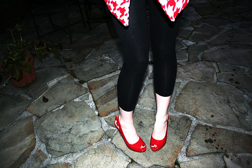 red peep toe