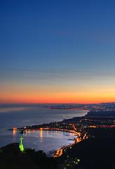 Giardini Naxos bay at sunset - Sicily (Giuseppe Finocchiaro) Tags: blue sunset sky night bay nikon tramonto nightshot blu cielo sicily taormina notte hdr sicilia naxos giardini baia giardininaxos abigfave goldstaraward