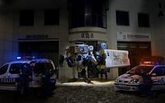 burglary of bambabank (nael.) Tags: toys robot cops police bank 3a photoediting photomontage bertie bramble wwr ashleywood photoretouching nael retouchephoto 3atoys blancdeplume