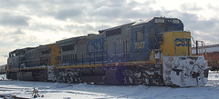 DSC_0044 (firephoto25) Tags: railroad snow ny yard train d50 nikon rochester locomotives csx 277 7527