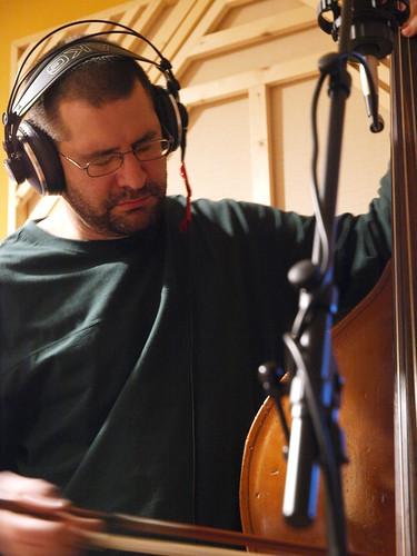 "Greg ""Stig"" Stiglets of Dehlia Low in the studio"