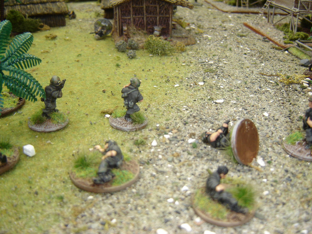 2nd Squad takes casualties as it assaults VC Command hut