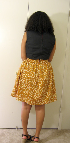 giraffe skirt back
