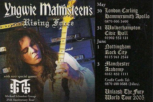 May-June 2005 Yngwie Malmsteen English Tour Ad