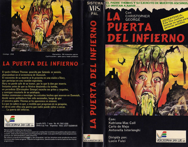 La puerta Del Inferno (VHS Box Art)