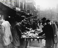 Shudehill Market Bookstall, 1947 (archivesplus) Tags: manchester book books bookshop bookstall manchesterlocalimagecollection gb127