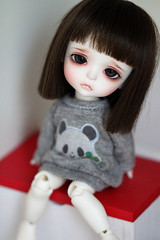 Saddness (Aya_27) Tags: brown look yellow les angel bigeyes doll natural bjd lovely custom dollfie saddness purelove sadface ws dollie latidoll whiteskin lati puppylook