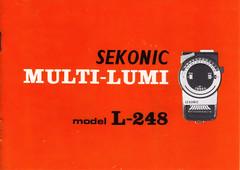Sekonic L-248 user's guide topcover (HYAKUNEKO) Tags: exposure meter guide manual users sekonic l248 multilumi