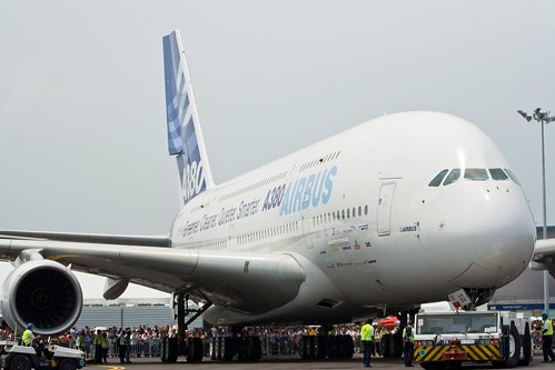 A380 Airliner Front View
