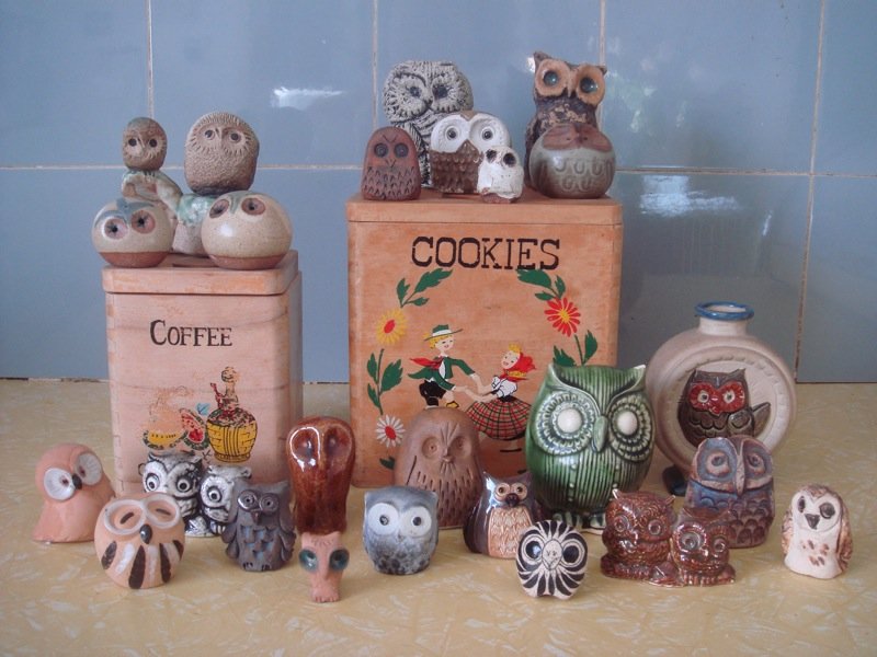 owls and boxes from East Kew Vinnies