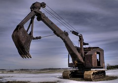 Rusty Digger (Emery O) Tags: old tracks rusty digger excavator