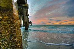 Sunset at Naples Pier III (Erik Holmberg) Tags: ocean blue sunset red colors easter pier florida sunday naples eastersunday naplespier