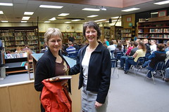 Mary withTeresa Monkman at Smithers Secondary