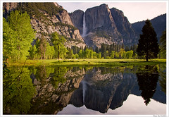 Rising Water (Thi) Tags: fall river merced valley yosemite yosemitevalley mercedriver swingingbridge yosemitefall