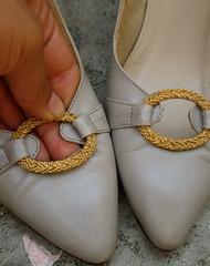 vintage italian leather heels.