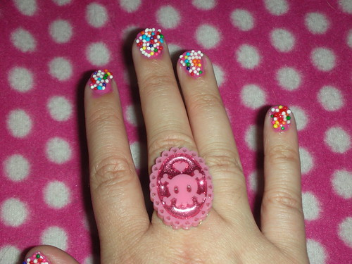 Sprinkles Nail Art Design
