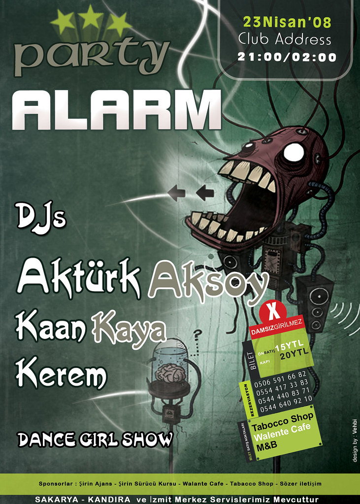 Party Alarm - Afiş