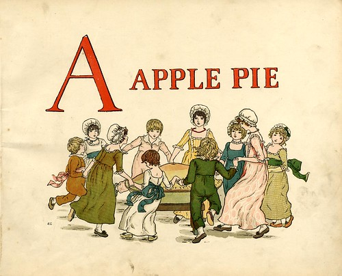 1-A Apple Pie by Kate Greenaway- 1900