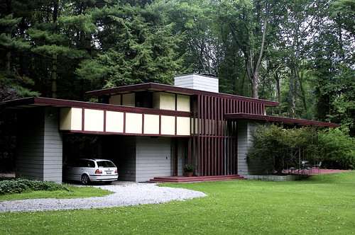 Frank Lloyd Wright Penfield House,  Willoughby Hills, Ohio,modern,house,design