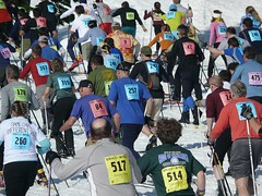 The Ski to Sea marathon start out on Mt. Baker. Thanks to Ramona Mayhem on Flickr for the photo.