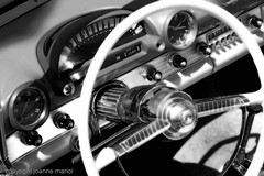 classic car 6 (joannemariol) Tags: vintage classiccar retro dash nostalgic americana dashboard blackandwhitephotography vintageautomobile joannemariol