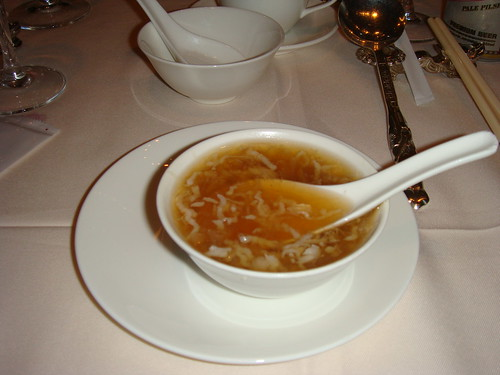 Shark fin and bird's nest soup