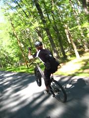 Jeff Jones one handed wheelie