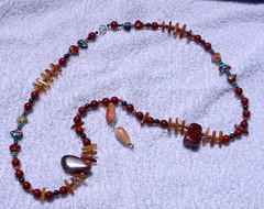 goldstone nugget and bear necklace.jpg