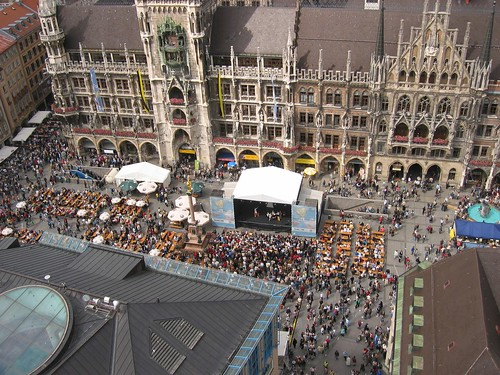 View of Marienplatz from St. Peter's, Munich