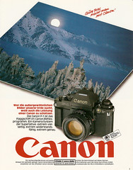 "Canon ""F-1"" SLR (1984) (jens.lilienthal) Tags: camera slr classic canon vintage advertising reclame ad f1 advertisement advert werbung reklame kamera spiegelreflex amzeige zeitungsreklame canonreflexprogramm"