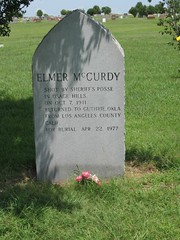 Elmer McCurdy Tombstone