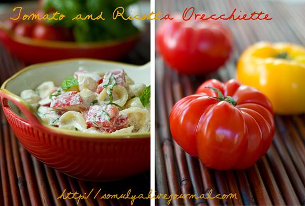 Tomato and ricotta orecchiette