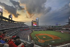 Watching The Sunset At Phillies Baseball Game