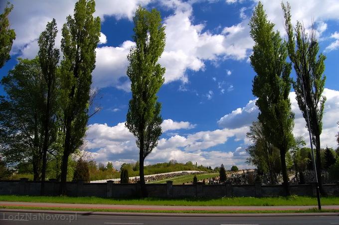Ulica Brzezińska, cmentarz Doły