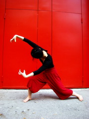 Mantis (melancholik) Tags: red rouge dance rojo hands bodylanguage satoko redprayer