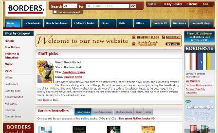 Borders UK site