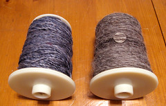 Merino/Silk Blend & Natural Colored Mixed Wool Sliver Singles