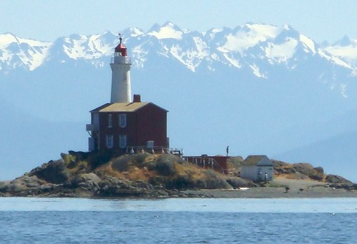 Fisgard Light with Olympic Mountains