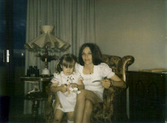 Mummy and I (Zombie Normal) Tags: arizona me phoenix mummy 1973 grandmas skinnedknee whitedresses