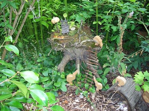 fairy house in tree stump
