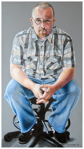 Colored pencil drawing entitled Self Portrait V