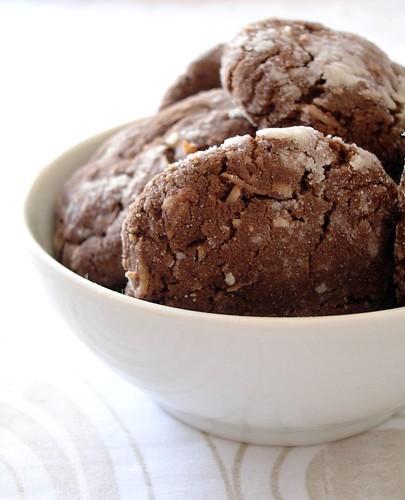 Nika's chocolate coconut hedgie cookies