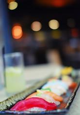 sushi with a side of bokeh :D (*Peanut (Lauren)) Tags: sushi yum 30mmf14 iamasushisnob nocaliforniarollseva ihearyouonthatnigirialltheway toroismyfave toroishighonmylisttoo