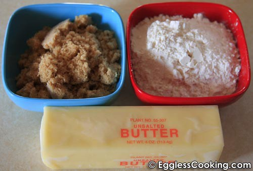 Eggless Pecan Bars Crust Ingredients