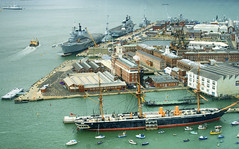 Three Centuries of British Sea Power (Roantrum) Tags: portsmouth hmsvictory royalnavy hmswarrior hmsarkroyal hmsillustrious roantrum thespinnaker hmsarkroyalr09