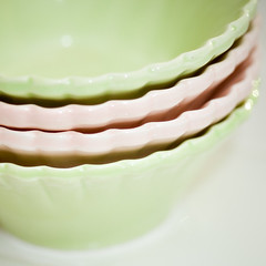 Ice cream bowls (GioPhotos) Tags: pink green ice dessert colorful pastel cream bowl icecream bowls greenbowl pastelcolors pinkbowl icecreambowl
