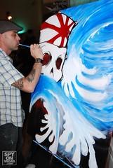 damien live painting (drakehappy) Tags: damien bodypainting drake flicker googelcom wwwgoogelcom