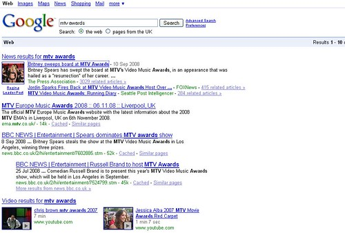 2 Videos listed together on Google SERPs